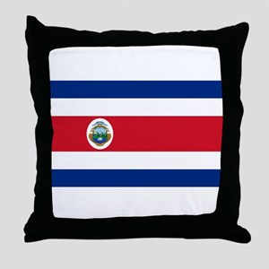 Costa Rica Flag Throw Pillow