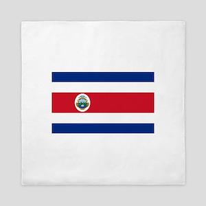 Costa Rica Flag Queen Duvet