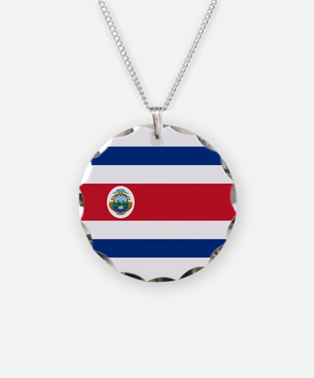 Costa Rica Flag Necklace