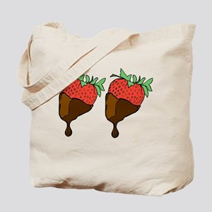 strawberry boobs Tote Bag