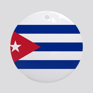 Cuba Flag Round Ornament