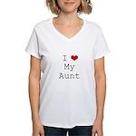 I Heart My Aunt Women's V-Neck T-Shirt