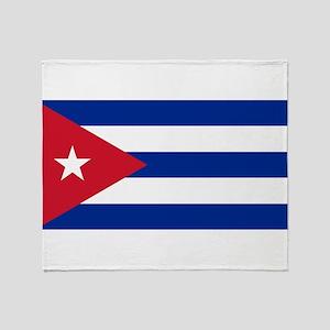 Cuba Flag Throw Blanket