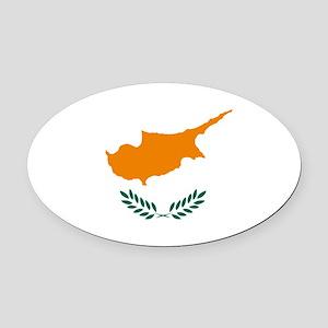 Cyprus Flag Oval Car Magnet