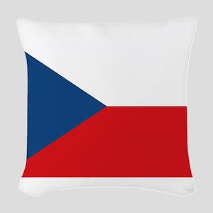 Cyprus Flag Woven Throw Pillow