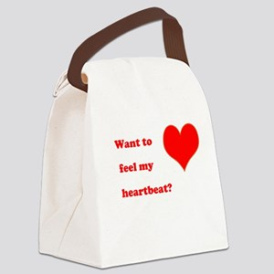 Feel my heartbeat Canvas Lunch Bag