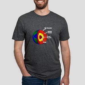 Earth Layers Women's Dark T-Shirt