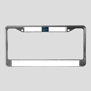 Shine Abstract License Plate Frame