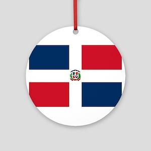 Dominican Republic Flag Round Ornament