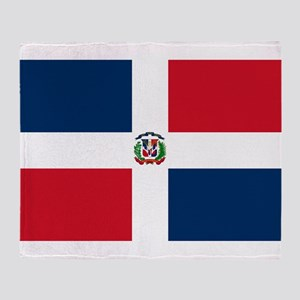 Dominican Republic Flag Throw Blanket