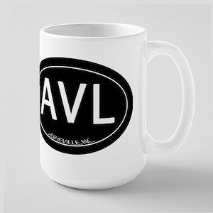 Asheville NC AVL Large Mug