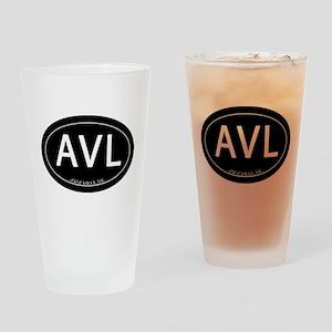 Asheville NC AVL Drinking Glass