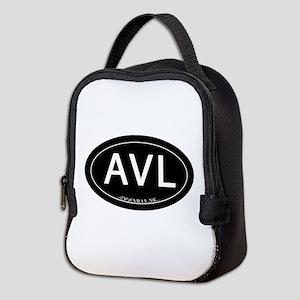 Asheville NC AVL Neoprene Lunch Bag