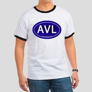 Asheville NC Blue AVL Ringer T