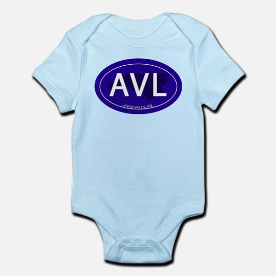 Asheville NC Blue AVL Infant Bodysuit