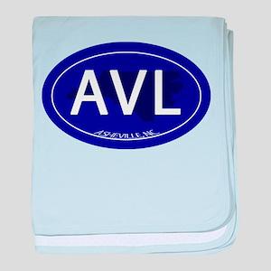 Asheville NC Blue AVL baby blanket