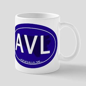 Asheville NC Blue AVL Mug