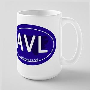 Asheville NC Blue AVL Large Mug