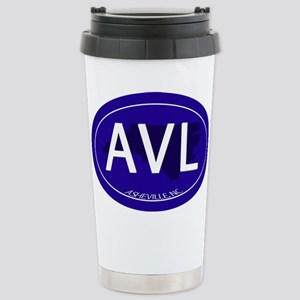 Asheville NC Blue AVL Stainless Steel Travel Mug