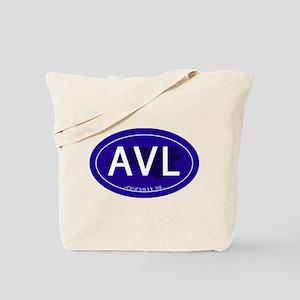 Asheville NC Blue AVL Tote Bag