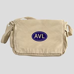 Asheville NC Blue AVL Messenger Bag