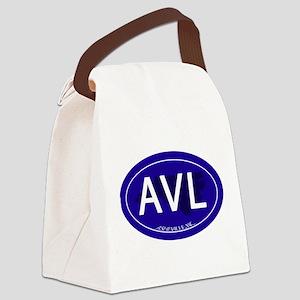 Asheville NC Blue AVL Canvas Lunch Bag