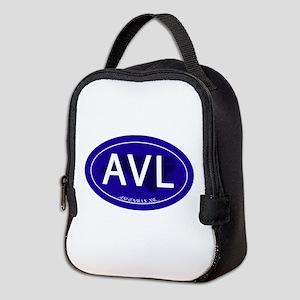 Asheville NC Blue AVL Neoprene Lunch Bag