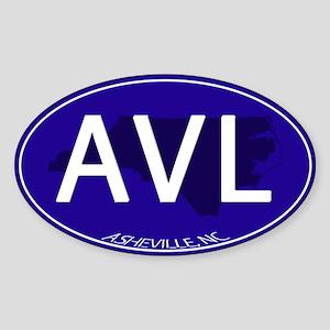 Asheville NC Blue AVL Sticker (Oval)