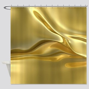 Swirled Gold Foil Shower Curtain