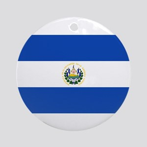 El Salvador Flag Round Ornament
