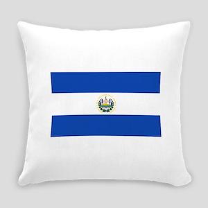 El Salvador Flag Everyday Pillow