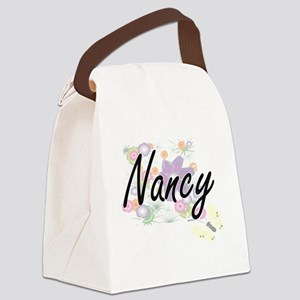 Nancy Artistic Name Design with F Canvas Lunch Bag