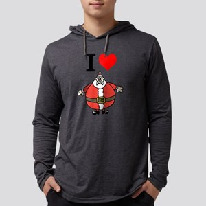 I love Santa Mens Hooded Shirt
