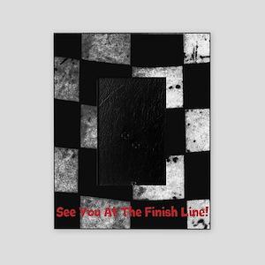 Kart on Checkered Flag Picture Frame
