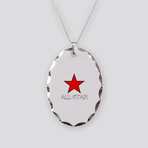 ALL STAR Necklace Oval Charm