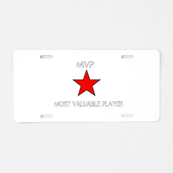 ALL STAR MVP Aluminum License Plate