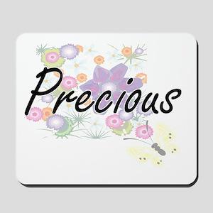 Precious Artistic Name Design with Flowe Mousepad