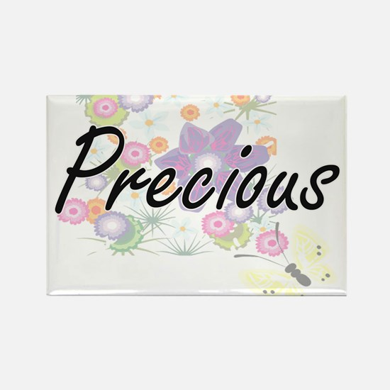 Precious Artistic Name Design with Flowers Magnets
