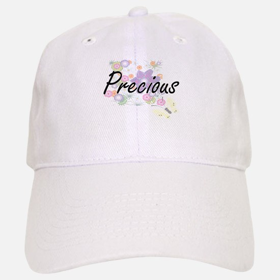 Precious Artistic Name Design with Flowers Baseball Baseball Cap