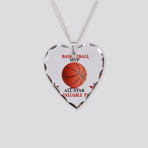 BASKETBALL MVP ALLSTAR Necklace Heart Charm