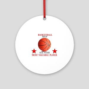 BASKETBALL MVP ALLSTAR Round Ornament