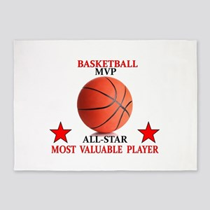 BASKETBALL MVP ALLSTAR 5'x7'Area Rug