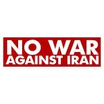 No War Against Iran bumper sticker