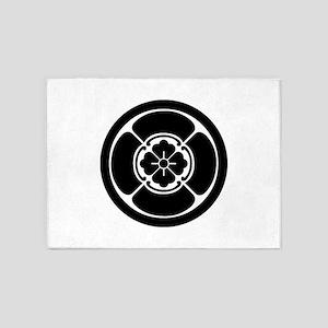 Square mokko in circle 5'x7'Area Rug