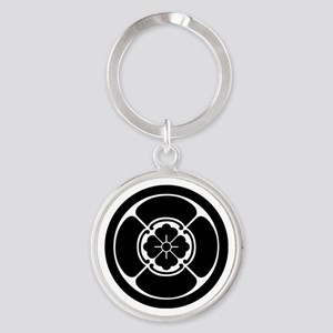 Square mokko in circle Round Keychain