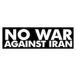 No War Against Iran black bumper sticker