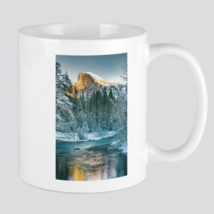 Half Dome in Winter Mugs