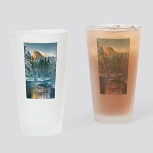 Half Dome in Winter Drinking Glass