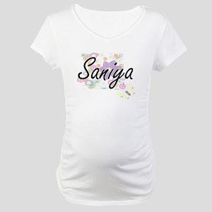 Saniya Artistic Name Design with Maternity T-Shirt