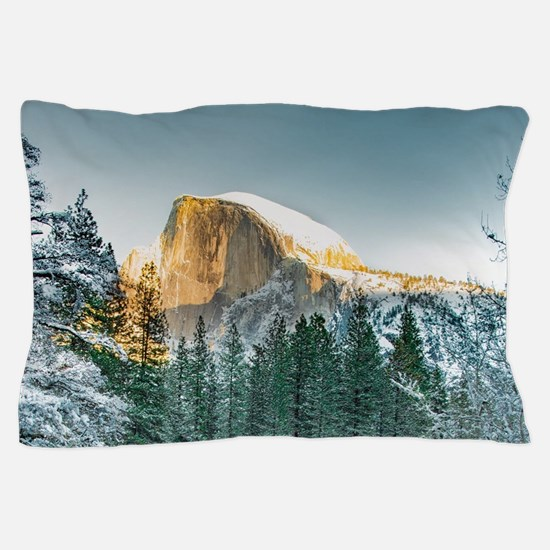 Half Dome in Winter Pillow Case